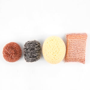 Andrée Jardin Tradition Stainless Steel Scrubber - Pack of 3