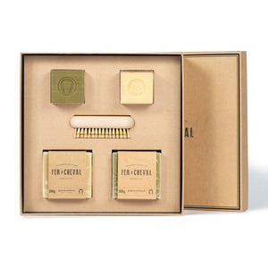 Fer à Cheval Marseille Soap Set with Nail Brush Gift Box