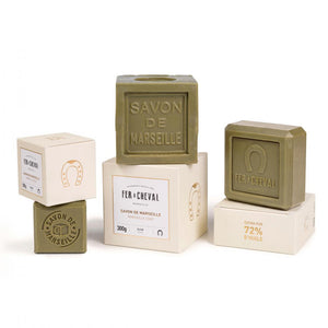 Fer à Cheval Premium Marseille Soap Olive Oil 100g Cube - Pack of 2