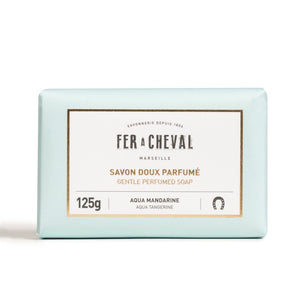 Fer à Cheval Gentle Perfumed Soap Bar - Aqua Tangerine 125g - Pack of 2