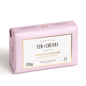 Fer à Cheval Gentle Perfumed Soap Bar - Fig Leaves 125g - Pack of 2