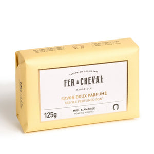 Fer à Cheval Gentle Perfumed Soap Bar - Honey & Almond 125g - Pack of 2