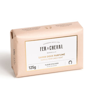Fer à Cheval Gentle Perfumed Soap Bar - Olive Blossom 125g - Pack of 2