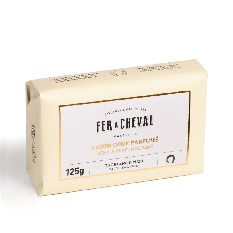 Fer à Cheval Gentle Perfumed Soap Bar - White Tea & Yuzu 125g - Pack of 2
