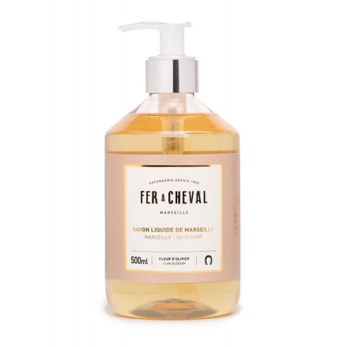Fer à Cheval Marseille Liquid Soap Olive Blossom 500ml pump bottle.