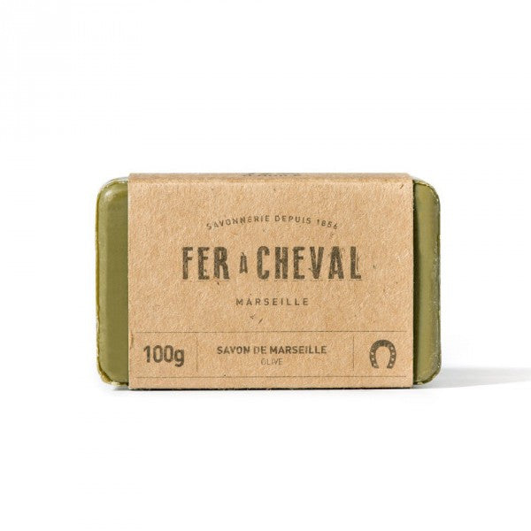 Fer à Cheval Genuine Marseille Soap Olive Oil 100g Bar  - Pack of 3