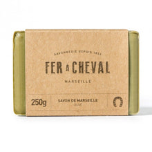 Load image into Gallery viewer, Fer à Cheval Genuine Marseille Soap Olive Oil 250g Bar - Pack of 3