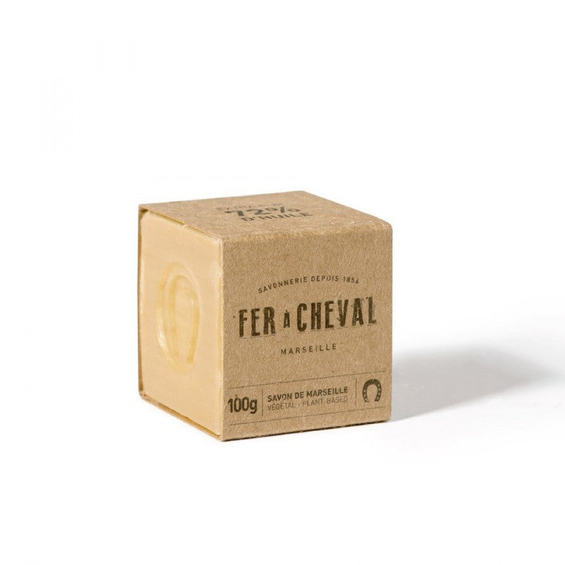 Fer à Cheval Genuine Marseille Soap Unscented 100g Cube - Pack of 3