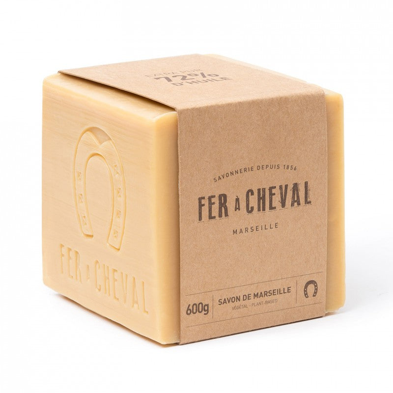 Fer à Cheval Genuine Marseille Soap Unscented 600g Cube - Pack of 2