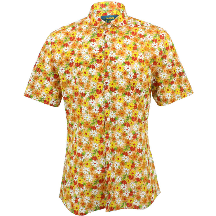 Slim Fit Short Sleeve Shirt - Daisies