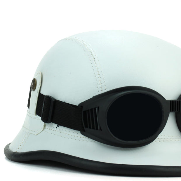 Combat Novelty Festival Helmet with Goggles - White