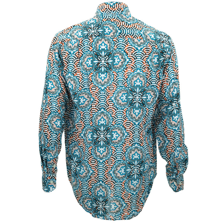 Regular Fit Long Sleeve Shirt - Concentric Burst