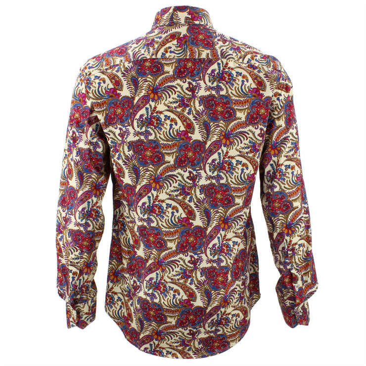 Tailored Fit Long Sleeve Shirt - Indian Floral Print