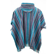 Brushed Cotton Hooded Poncho - Purple Sky