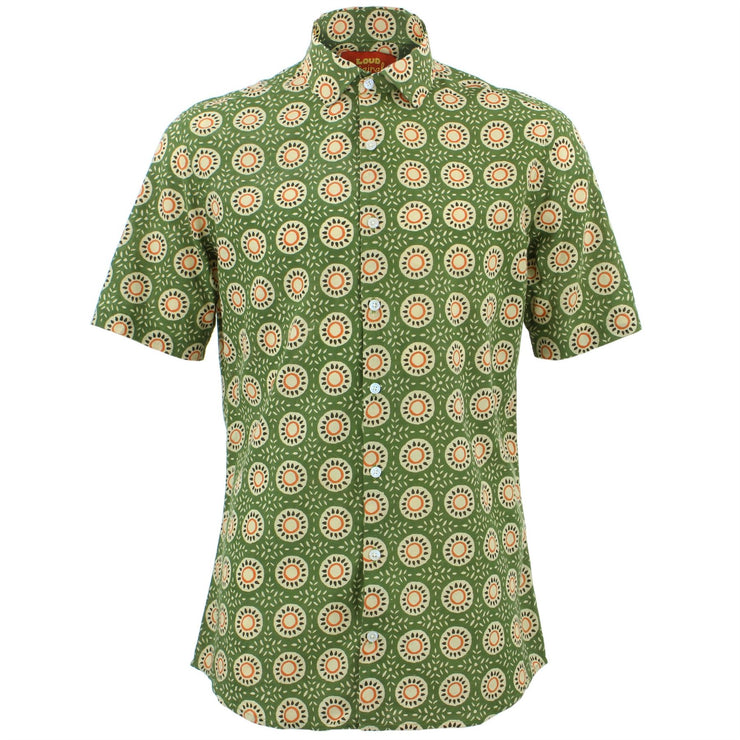 Tailored Fit Short Sleeve Shirt - Sun Tile