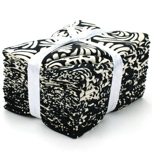 Cotton Batik Pre Cut Fabric Bundles - Fat Quarter - Dark and Light