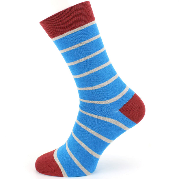 Bamboo Socks - Stripe - Blue