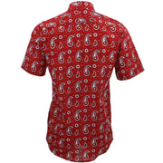 Tailored Fit Short Sleeve Shirt - Block Print - Paisley