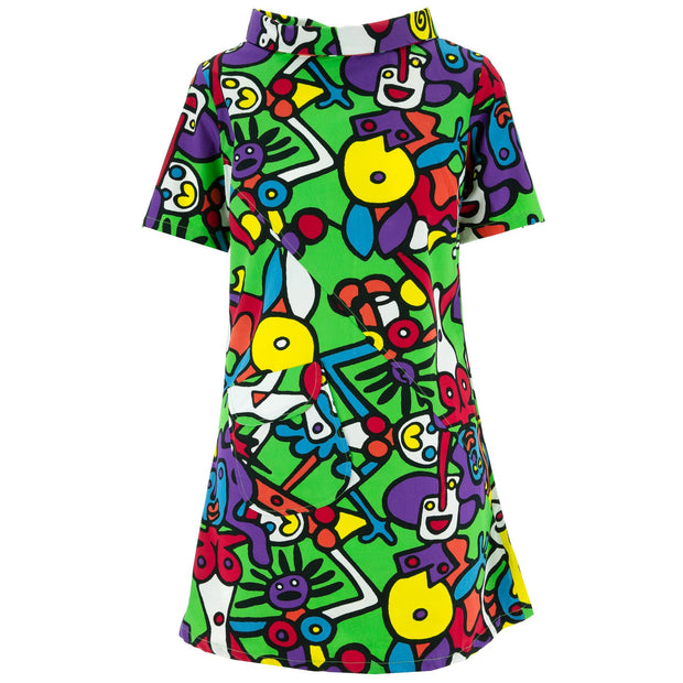 Sixties Shift Dress - Tiffy Green