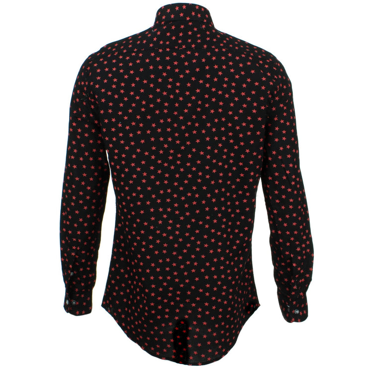 Slim Fit Long Sleeve Shirt - Ditzy Red Stars