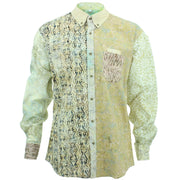 Regular Fit Long Sleeve Shirt - Random Mixed Batik - Beige