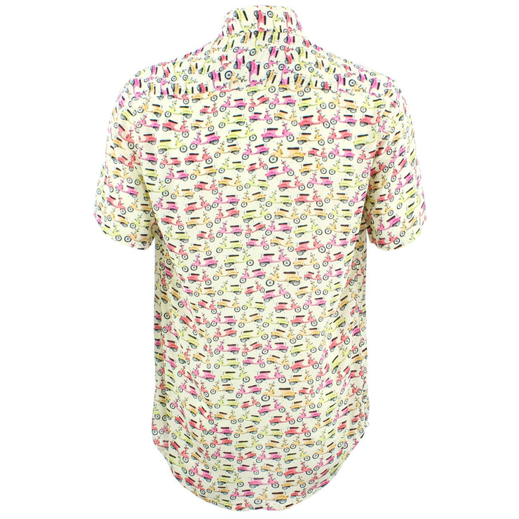 Tailored Fit Short Sleeve Shirt - Yellow Scooters