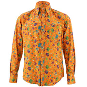 Tailored Fit Long Sleeve Shirt - Cartoon Ellies Orange