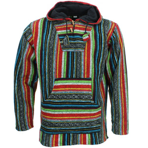 Brushed Cotton Baja Hoodie - Mexican Diamond