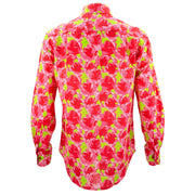 Regular Fit Long Sleeve Shirt - Floral - Red