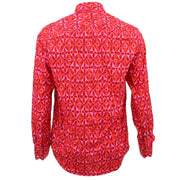 Tailored Fit Long Sleeve Shirt - Abstract Diamond Flower