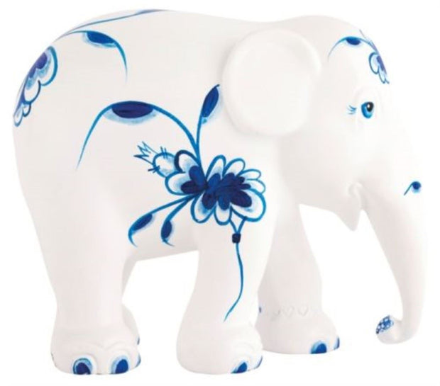 Limited Edition Replica Elephant - Blue Dance (10cm)
