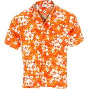 Short Sleeve Hawaiian Shirt - Orange