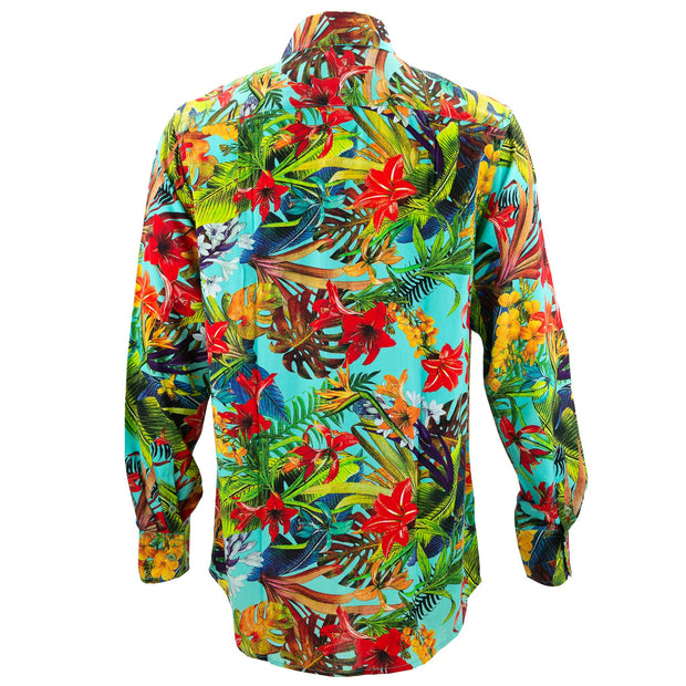 Regular Fit Long Sleeve Shirt - Tropical Lily