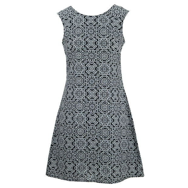 Nifty Shifty Dress - Black Promise Tile