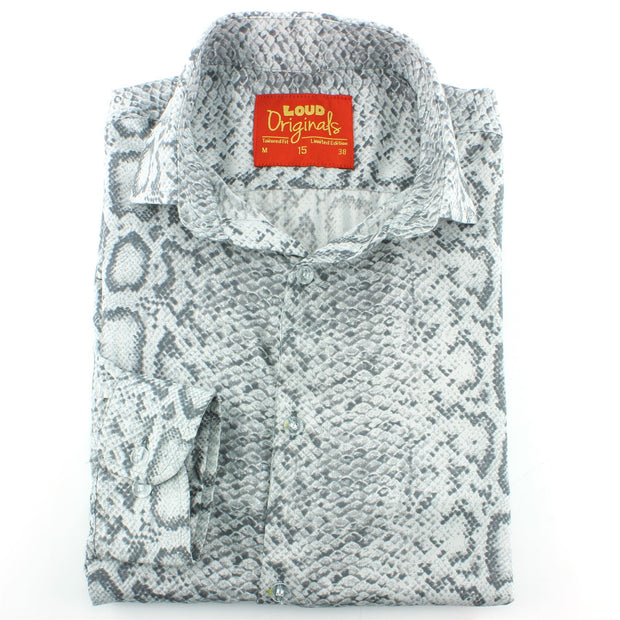 Tailored Fit Long Sleeve Shirt - Snake Skin