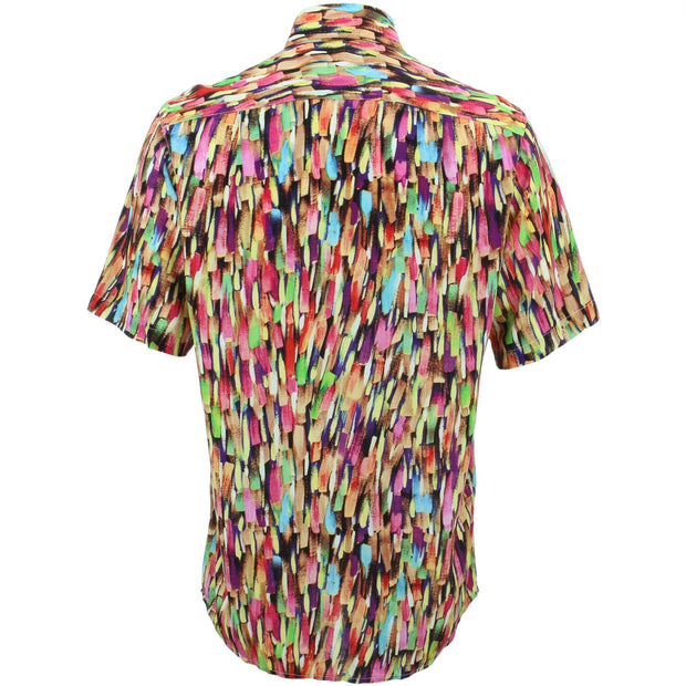 Regular Fit Short Sleeve Shirt - Brushstrokes