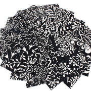 Cotton Batik Fat Quarter Pre Cut Fabric Bundle - Black & White
