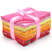Cotton Batik Pre Cut Fabric Bundles - Fat Quarter - Hues of Spring