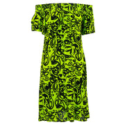 Shirred Comfy Dress - Brilliant Vines