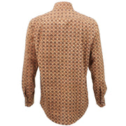 Regular Fit Long Sleeve Shirt - Brown Fish Scales