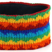 Wool Kint Headband - Rainbow Zig Zag