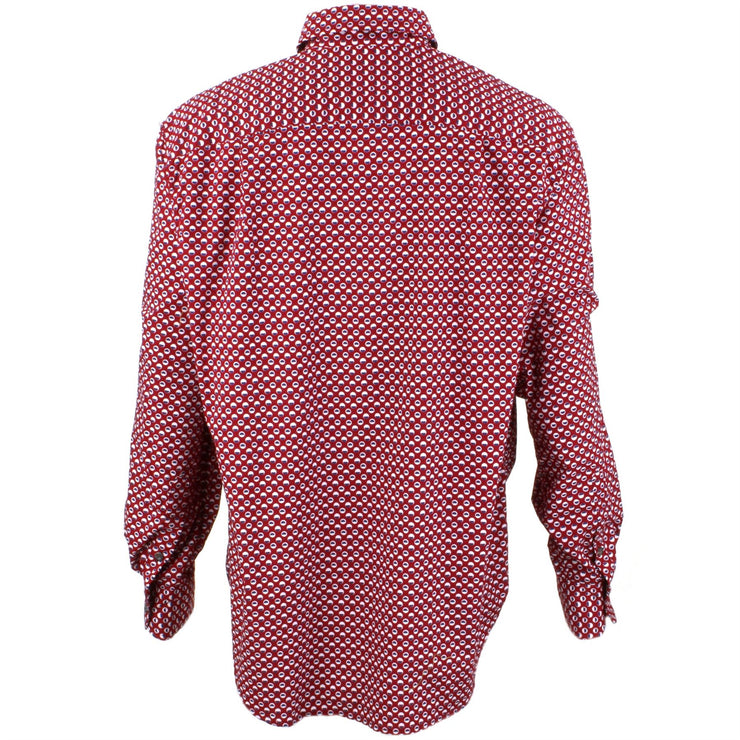 Regular Fit Long Sleeve Shirt - Red With Dots