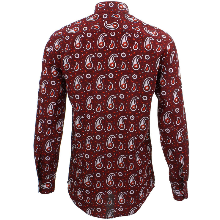 Tailored Fit Long Sleeve Shirt - Block Print - Paisley