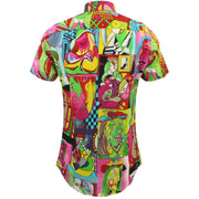 Tailored Fit Short Sleeve Shirt - Cubism Portraits
