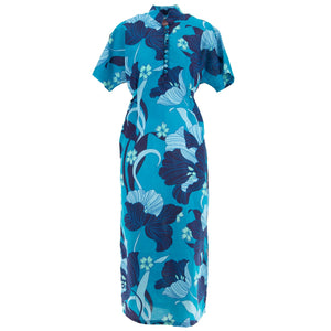 Mandarin Maxi Dress - Blue Dream