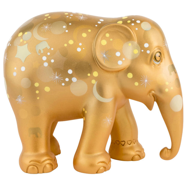 Limited Edition Replica Elephant - Sparkling Celebration Gold