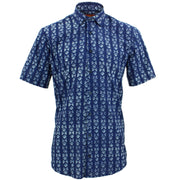 Tailored Fit Short Sleeve Shirt - Block Print - Farfalle