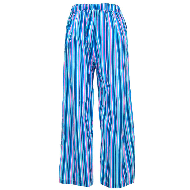Loose Summer Trousers - Blue Purple Stripe