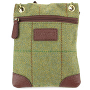Small Tweed Cross Body Shoulder Bag Handbag - Mid Green
