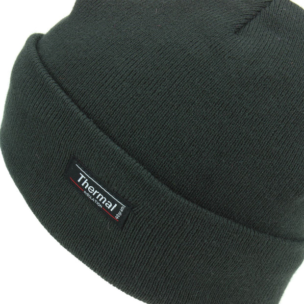 Fine Knit Beanie Hat - Brown